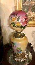 Victorian Flowers Decorated Kerosene Gone With The Wind /