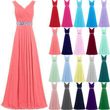 Long Formal Ball Gown Cocktail Evening Prom Party Dress Bridesmaid Dresses 6-24
