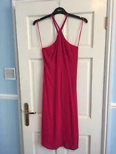 Topshop Pink Sleeveles Midi Summer.Dress Size 8 New