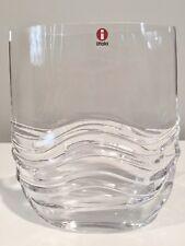 Iittala Glass Virrat Vase By Jorma Vennola Finland