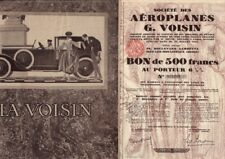 Aeroplanes G. Voisin France 1928 - French Aviation / Automobile Pioneer + ad