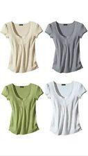 top trendy FLASHLIGHTS Basic Shirt NEU grau , grün , weiß , beige