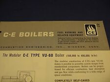 Combustion Engineering Corporation Boiler 1964 Catalog Asbestos History
