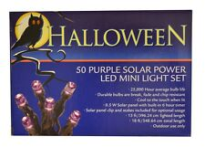 50 Purple LED Solar Powered Mini String Fairy Lights Halloween Christmas Lights