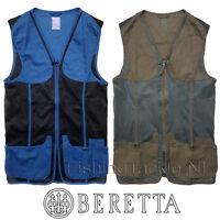 Beretta Shooting Mesh Vest Trap Clay Skeet Shooting Vest Blue / Dark Olive GT581