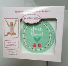 So Dorable Baby Girl 13 months stickers