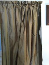 8' Olive Green Silk Blackout Curtains