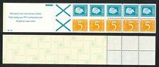 Nederland boekje 19 b postfris; witte baan door het onderste kruis