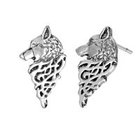 Viking Animal Jewelry Punk Wolf Stud Earrings Slavic Nordic Pagan Retro Jewelry