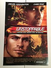 UNSTOPPABLE  Original Movie Promo Poster 13x20 Denzel Washington Chris Pine