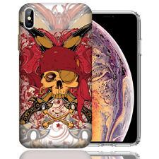 MUNDAZE Apple iPhone Xs &  X Design Case - Red Pirate Skull Cover