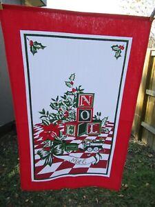 "Vtg Christmas tea towel toys 25 x 16"""