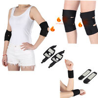 2pcs Tourmaline Magnetic Massage Self-heating Wrist Elbow Knee Protector dy