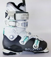 Used $350 Womens Salomon Quest Access R70 W Ski Boots Ladies White Teal Blue