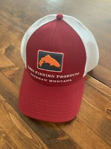 NWT Simms Fishing Small Fit Trucker Hat, Rusty Red Color, Small Fit Fishing Cap
