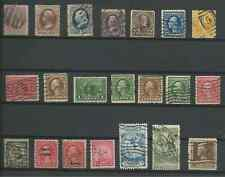 USA Small Collection Lot of 21 Used Stamps - CV$49.50