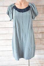 VERONIKA MAINE Dress Sz 8 Small Grey Tunic shift Silk Dress