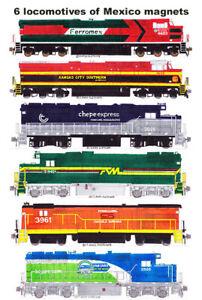 Railroads of Mexico (Ferromex, KCS de M, Chepe Express)  6 magnets Andy Fletcher