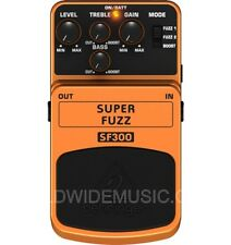Behringer SF300 Super Fuzz - 3 Mode Fuzz Distortion Guitar Effects Pedal