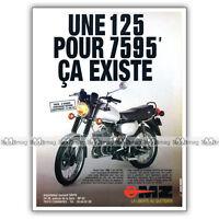 PUB MZ 125 ETZ - Original Advert / Publicité Moto de 1986