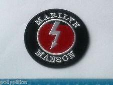 PUNK ROCK HEAVY METAL MUSIC SEW ON / IRON ON PATCH:- MARILYN MANSON (a) ARROW