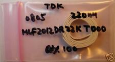 TDK 0805 220nH Inductor MLF2012DR22KT000, Qty.100