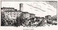 SAN ROMANO IN GARFAGNANA: Panorama. Carfaniana. Lucca.Toscana. Passepartout.1901