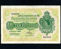 Falkland Islands:P-11b,10 Pounds,1982 * Queen Elizabeth *