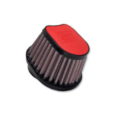 DNA Special Oval Red Leather Top Air Filter, In: 54mm, L: 87mm, PN:OVI-5400-L-R
