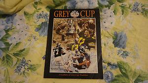 * 1999 CFL Grey Cup Program Hamilton Ti-Cats Calgary Stampeders