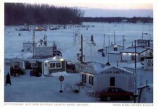 Canada  -  Hüttendorf auf dem Riviere-Sainte-Anne - Fischfang