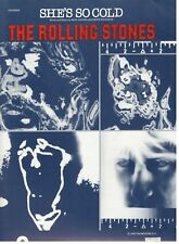 """THE ROLLING STONES """"SHE'S SO COLD"""" SHEET MUSIC-PIANO/VOCAL/GUITAR/CHORDS-NEW!!"""
