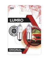 Lumro Original BAX9S H6W 434 6W Clear Halogen Parking Side Light Bulbs