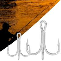 Fishing Hook Treble Overturned Hooks Fishing Tackle Round Bend Treble Saltwater
