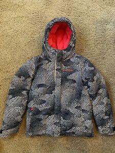 COLUMBIA Black Hot Pink Winter Ski Snow Jacket Coat Hood Girls Boy Youth Kid XS