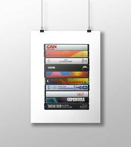 Krautrock Poster: Cassette Print, Kraut Rock Albums, Fan, Gift, Art, Neu,