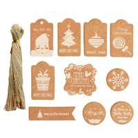200 PCS/ Set DIY Kraftpapier Weihnachtsanhänger Karte mit Schnur und Seil