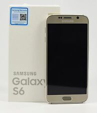 "OPEN BOX- Samsung Galaxy S6 SM-G920F Gold (FACTORY UNLOCKED) 5.1"" QHD , 32GB"