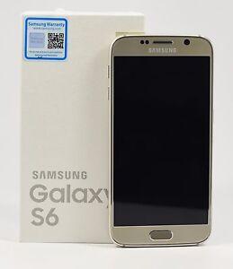 "USED - Samsung Galaxy S6 SM-G920F Gold (FACTORY UNLOCKED) 5.1"" QHD , 32GB"