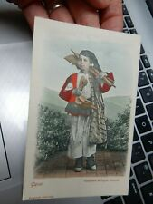 More details for postcard gavoi comune in sardinia, italy  treen  spoon vendor 1900s