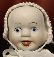 """6"""" 3 Face Changing Porcelain Bisque Doll  Happy, Sleep, Cry Shackman Kit?"""