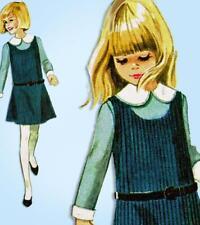 McCall 8381: 1960s Girls Helen Lee Jumper Dress Size 8 Vintage Sewing Pattern