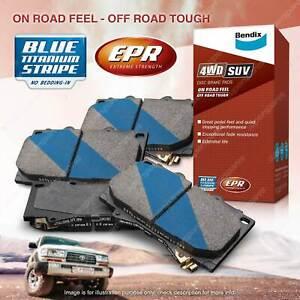 4pcs Bendix Front 4WD Brake Pads for Ford Courier PE PG PH Ranger PK PJ