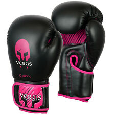 Pink Boxing Gloves Kids 6oz martial Arts Kick Punching Rex Leather Training MMA
