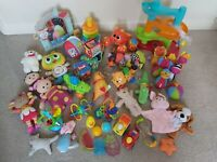 Huge Baby Toddler Infant Toy Bundle Colourful Sensory Activity Fisher Price etc
