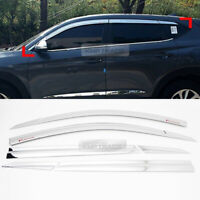 Chrome Window Sun Vent Visor Rain Deflector 6PCS For HYUNDAI 2016-2020 Tucson TL