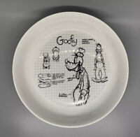 """Disney Mickey Mouse Sketchbook Pasta Salad Bowl Dish 8.5"""" Inches - GOOFY"""