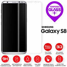 Samsung Galaxy S8 3D Completo Curvo Vidrio Templado Protección De Pantalla Lcd Claro