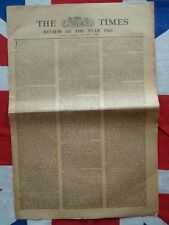 WW2 1942 Original Times Newspaper, Japan, North Africa, Yugoslavia, Lend-Lease
