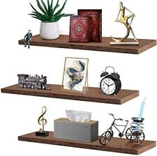 3 Pack Floating Shelves for Wall - Rustic Wood Floating Shelves Wall Mounted